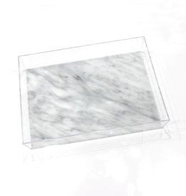 Lucite Marble Glitter Tray 11x14