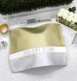 Horizontal Challah Cover Gold/White/Silver