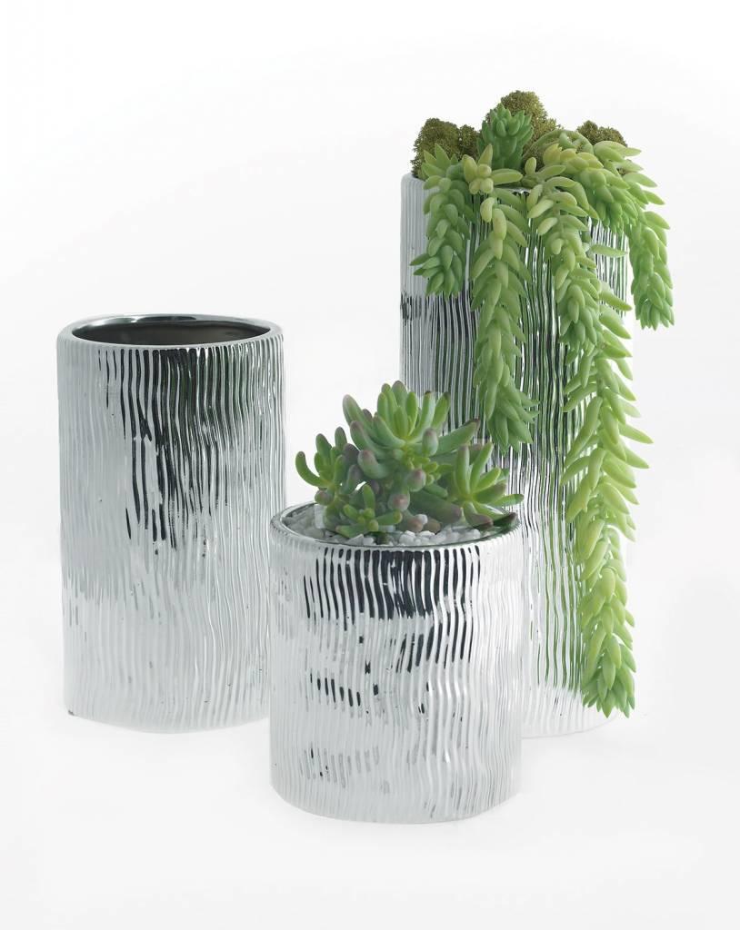 Darby Medium Silver Vase