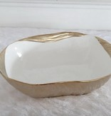 "12"" Gold Square Bowl"