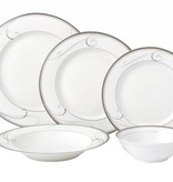 Platinum Swirl 20 pc Dinnerware set