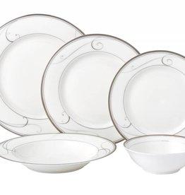 Platinum Swirl 20 pc Dinnerware set