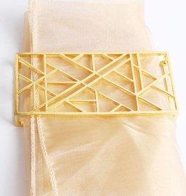 Geometric Gold Napkin Wrap