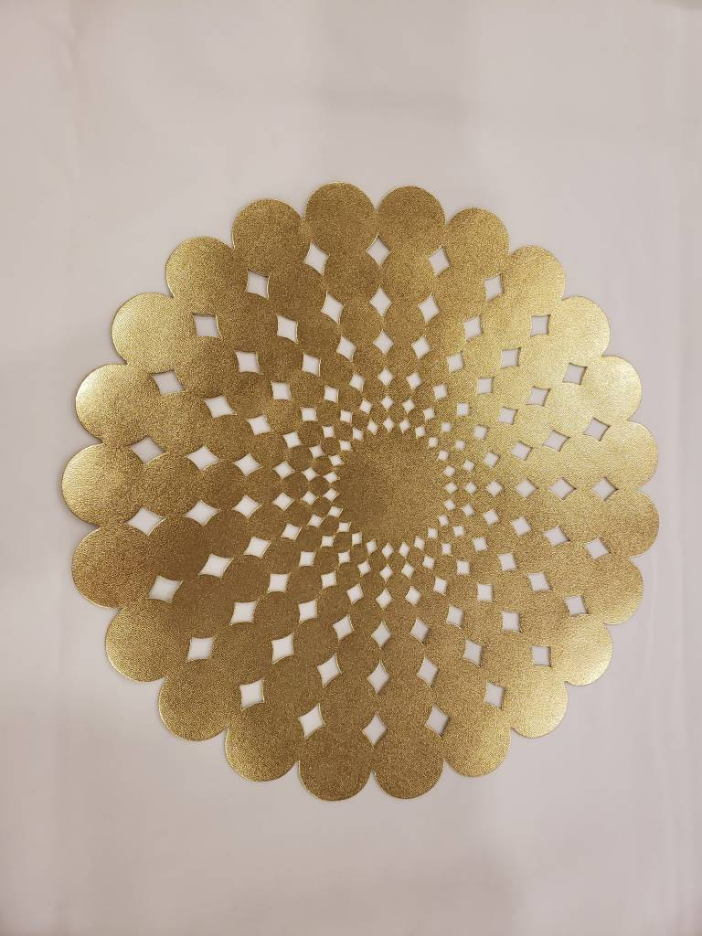 Flower Gold Placemat