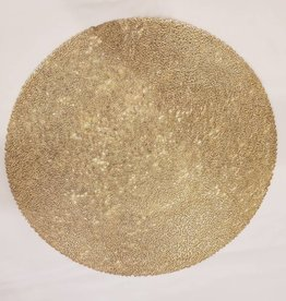 Pressed Scribble Gold Round Placemat