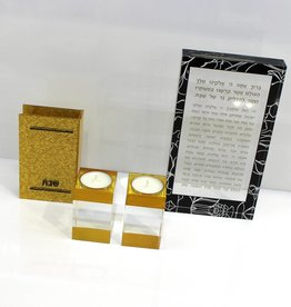 Gold glitter Lucite Match Box