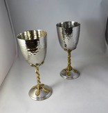 Kiddush Cup w Gold Leaves