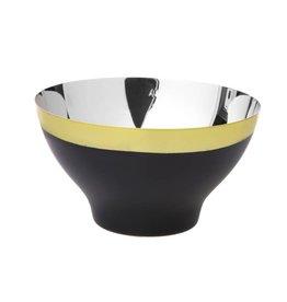 """10"""" Black & Gold Salad Bowl"""