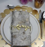 Gold Leaf Napkin Wrap