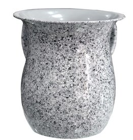 White and Black Marble Washing Cup