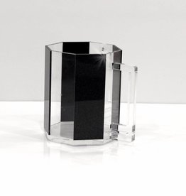 Waterdale Collection Hexagon Black Glitter Lucite Washing Cup