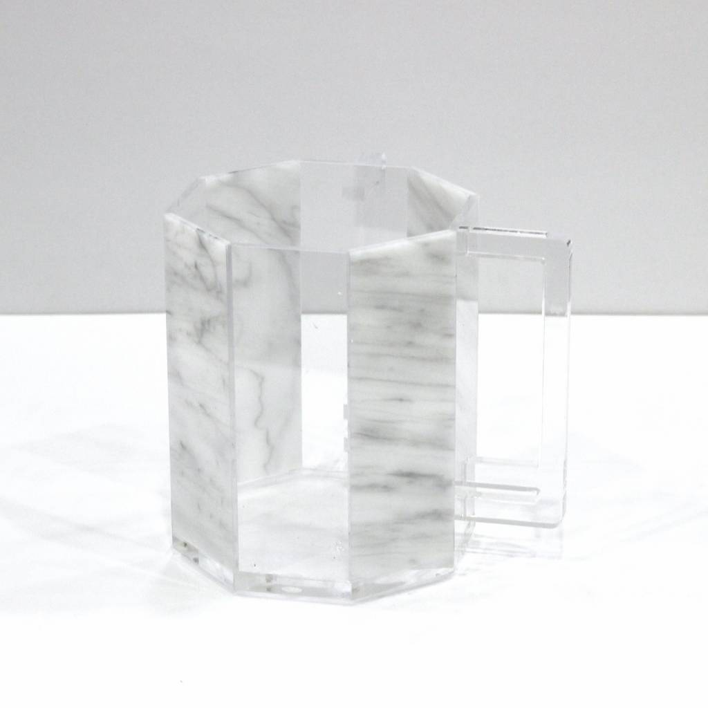 Waterdale Collection Hexagon Marble Lucite Washing Cup