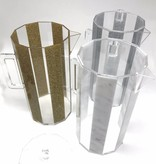 Waterdale Collection Hexagon Marble Lucite Pitcher