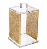 Waterdale Collection Gold Glitter Lucite Canister 4 x 6.5