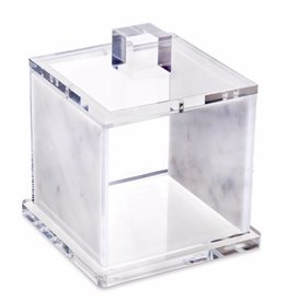 Waterdale Collection Marble Lucite Canister 4 x 4