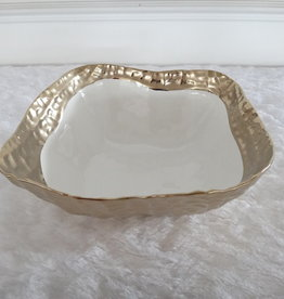 "10"" square Gold Bowl"