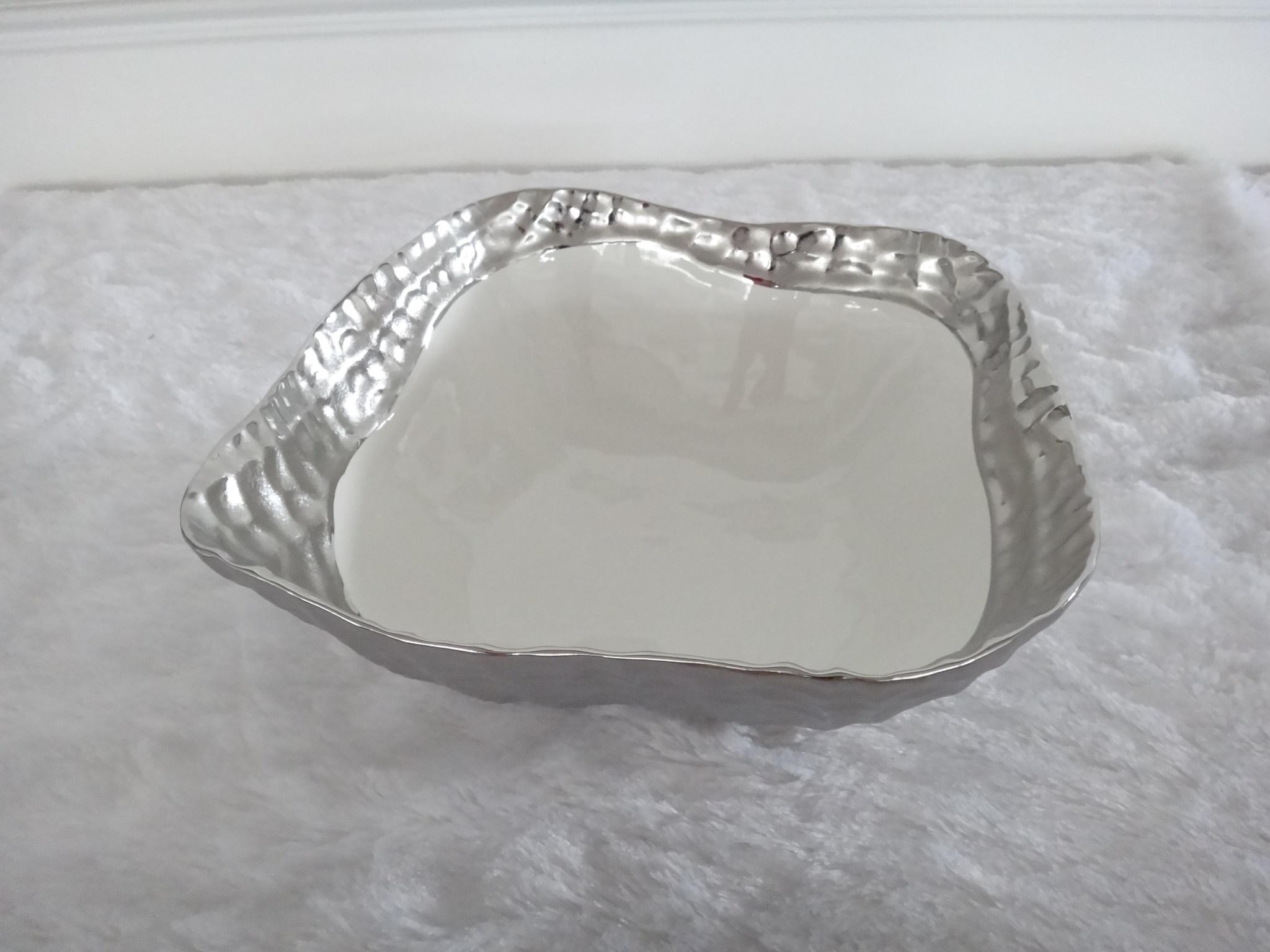 10.5 Square bowl silver