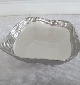10.5 Square Silver Bowl