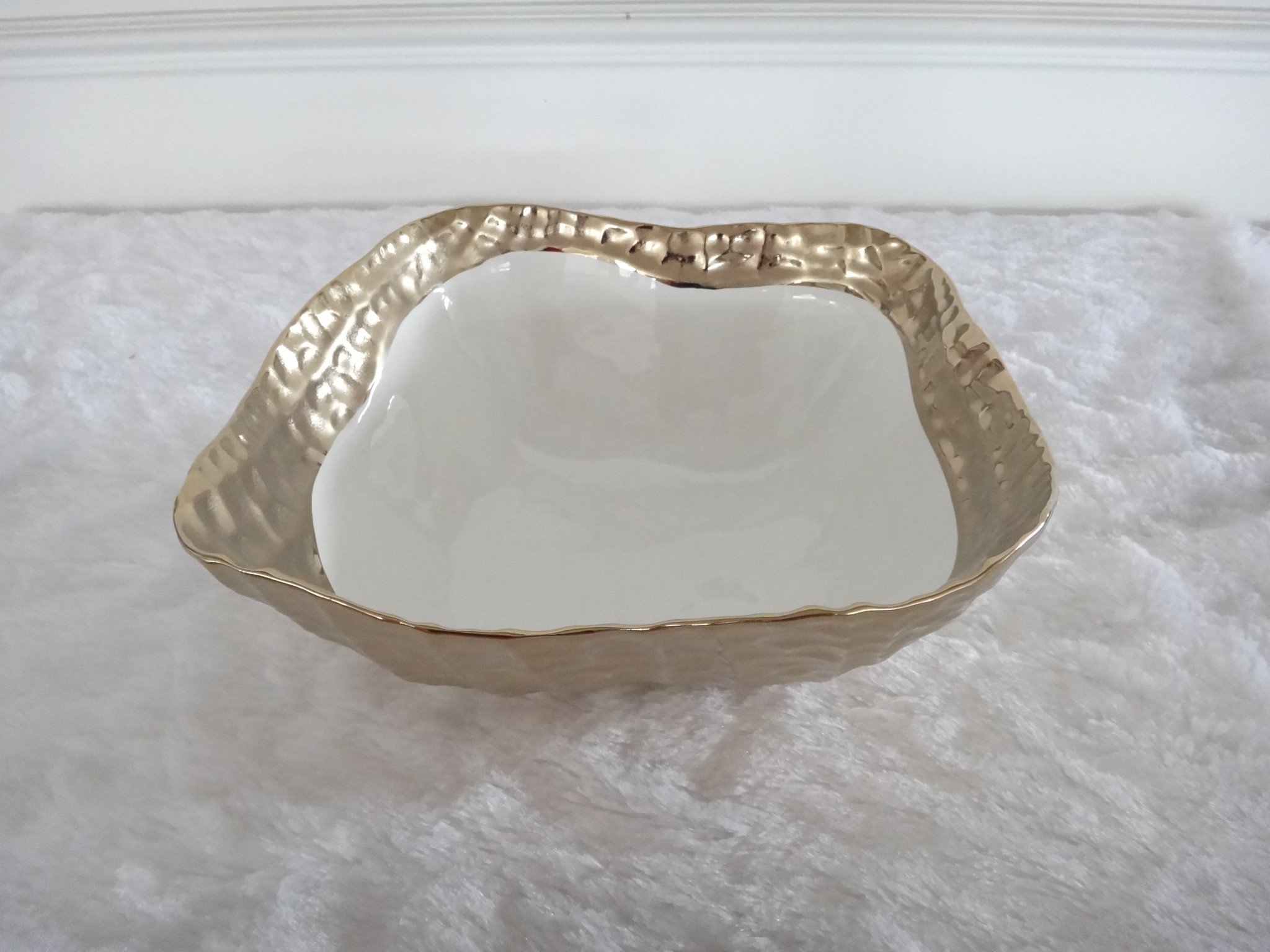 10.5 Square bowl gold