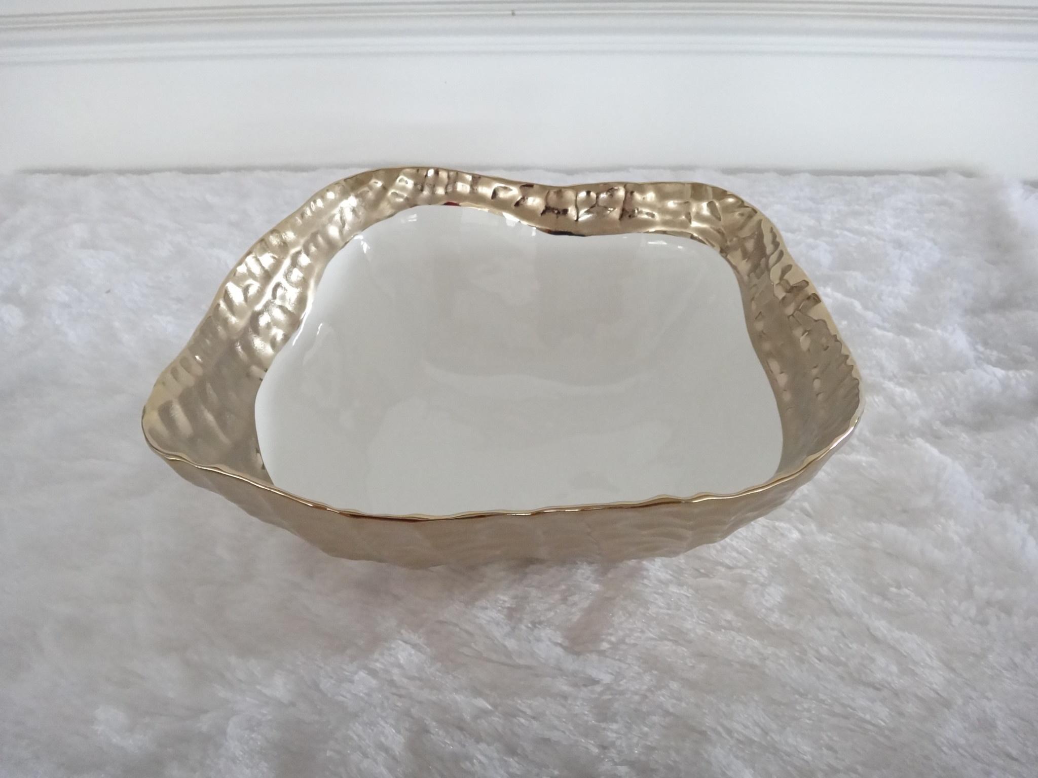 10.5 Square Gold Bowl