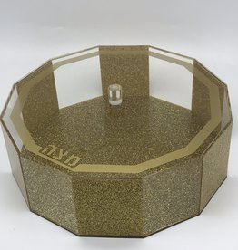 Hexagon Gold glitter matzah box