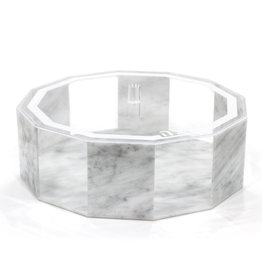 Hexagon marble matzah box