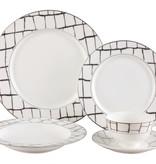 Luxe platinum 20 pc Dinnerware Set