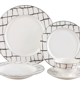 Luxe platinum 20 pc Dinnerware Set