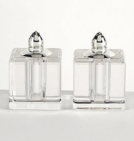 Square Silver Salt & Pepper Shakers
