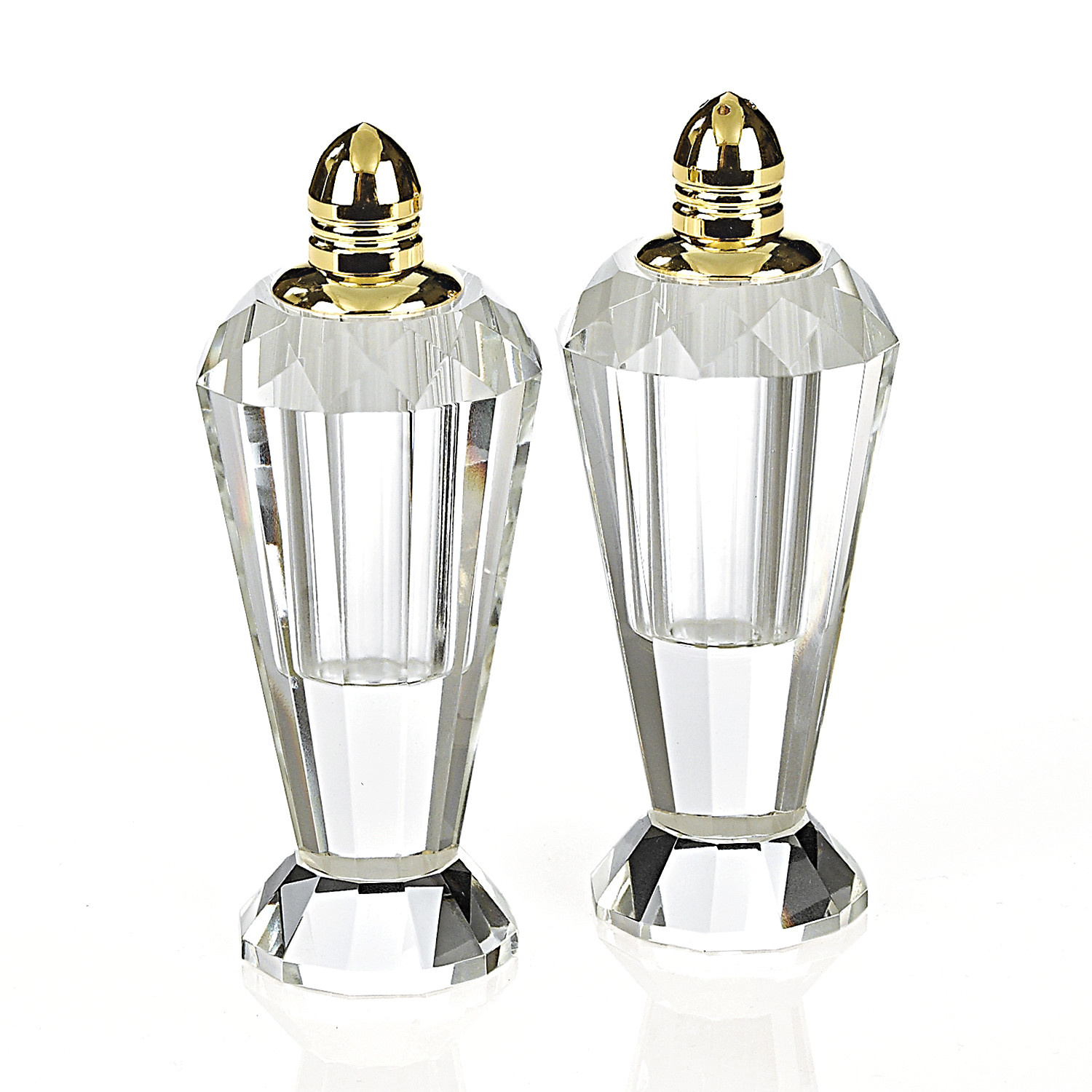 """4"""" Gold Salt and Pepper Shakers"""