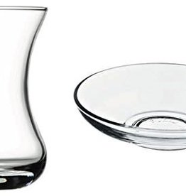 Lav clear glass seder cups s/6