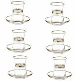 Lav gold glass seder cups s/6