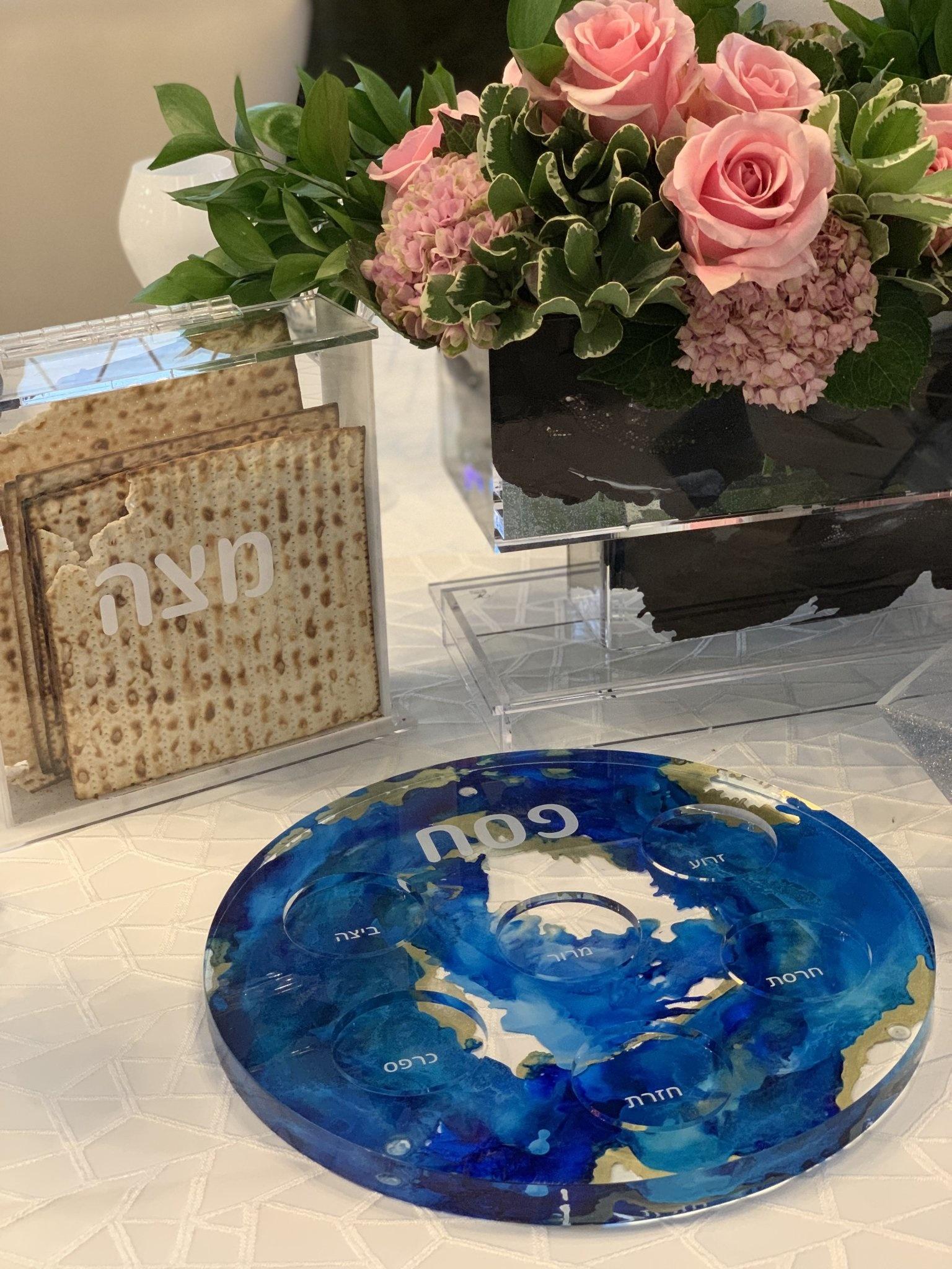 Sapphire Seder Plate