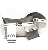 Waterdale Collection Grey/Silver Leather Pesach Sets - Horizontal