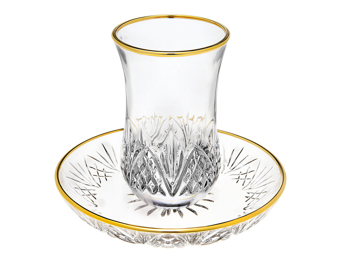 Dublin 2 Pc Gold Kiddush Set