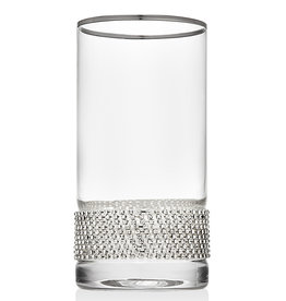 Silver Bling Highball Glasses s/4