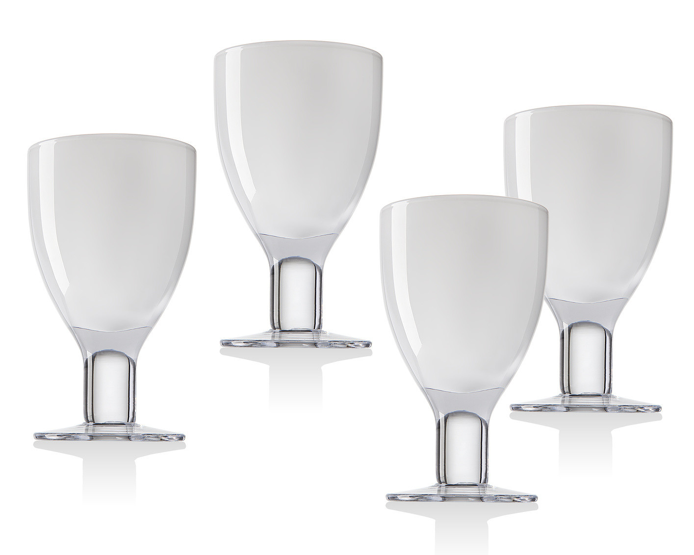 Galley White Goblets S/4