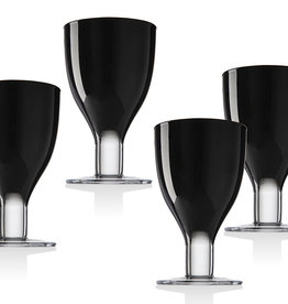 Galley Black Goblets S/4