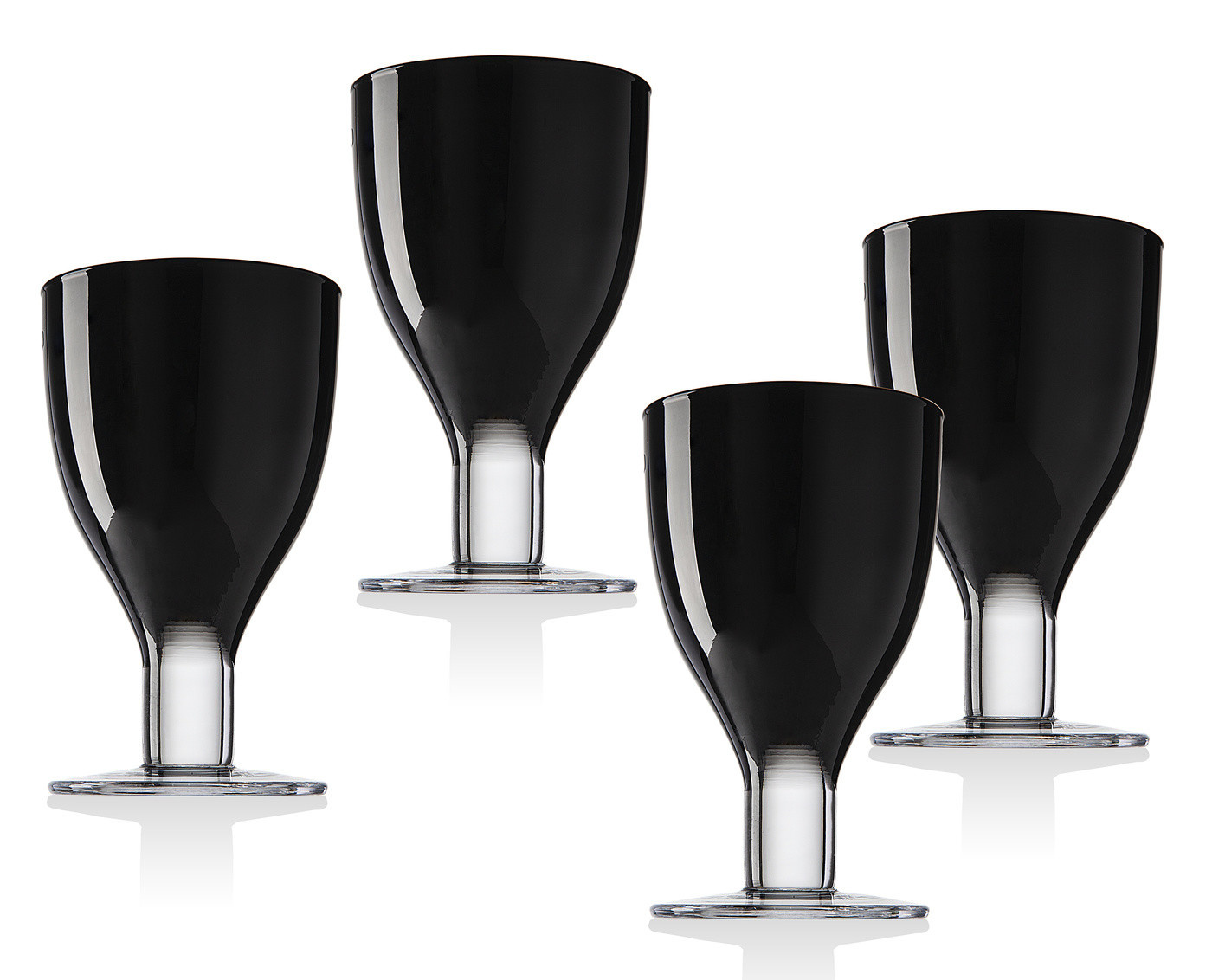Galley Black Goblets S/4