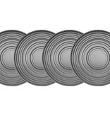 Godinger Silver Art Co Lumina Smoke Dinner Plates set 4