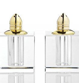 Square Gold Salt & Pepper Shakers
