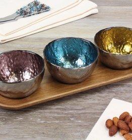 3 Color Glass Bowl Dip Set