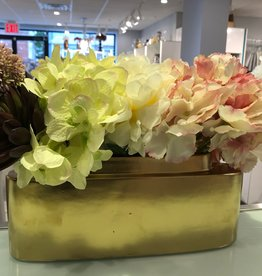 Sleek Planter w/ hydrangeas