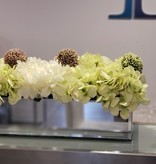 24'' Mirror Vase with Hydrangeas