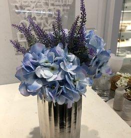 Mod Vase with Blue Hydrangeas