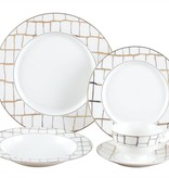 Luxe Gold 20 pc Dinnerware Set