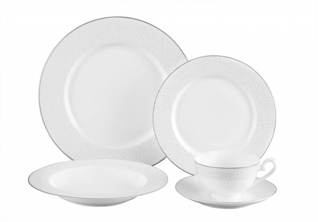 Stardust platinum 20 pc Dinnerware Set