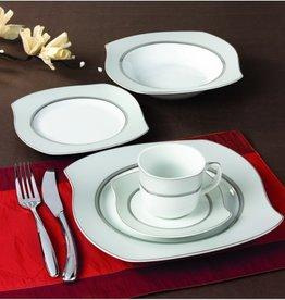 Wave Grey 57 pc Dinnerware set