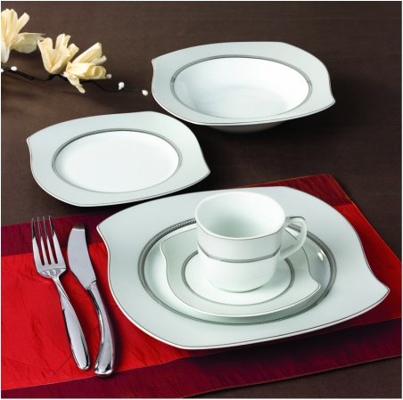 Wave Grey 57 pc Dinnerware set