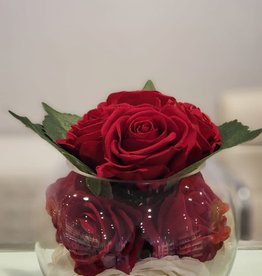 """8"""" bubble ball with White/Red Roses"""